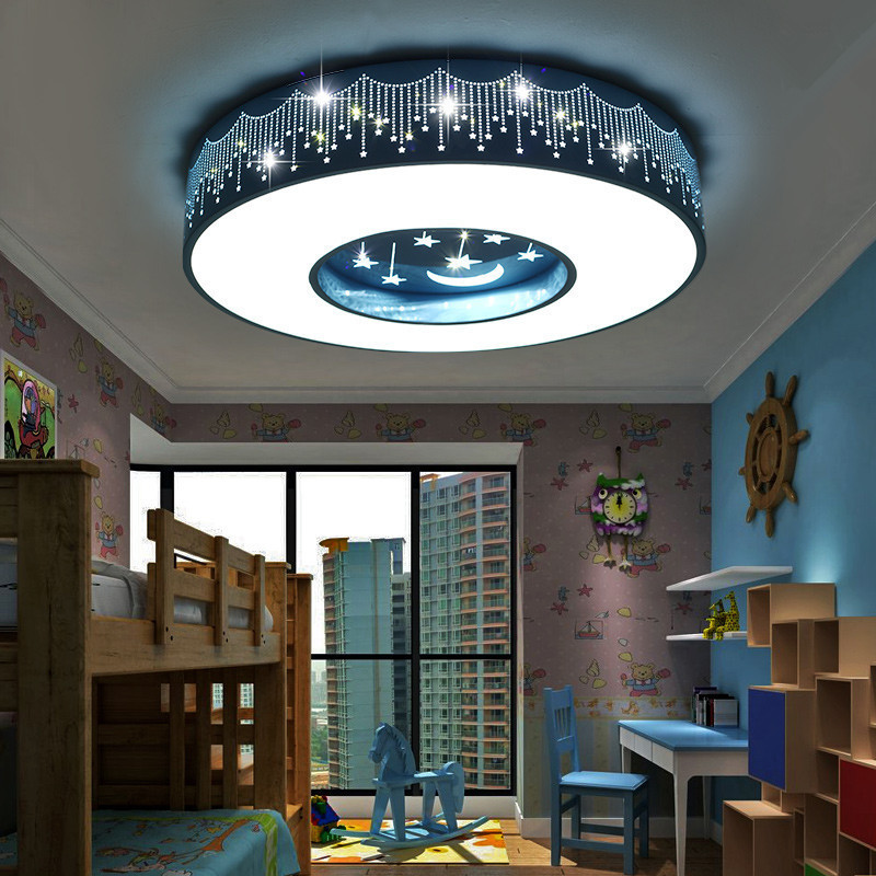 Nordic led round ceiling light bedroom living room aisle lamp boy girl star month room lamp cute children room pink blue lamp zunge led ceiling lights children s room cartoon creative five pointed star cute boy and girl bedroom p592 study room iron lamp