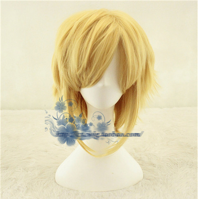 Us 15 29 10 Off The Legend Of Zelda Breath Of The Wild Link Short Golden Heat Resistant Cosplay Costume Wig Wig Cap On Aliexpress