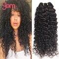Бразильский Вьющиеся Волосы Девственницы 4 Связки Естественный Вьющиеся Ткет Королева Красотки Weave Бразильский Глубокая Волна Человеческих Волос Tissage Bresilienne