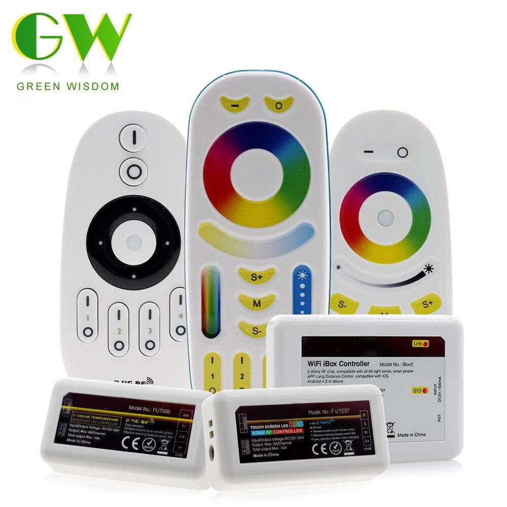 Smart LED Strip Controller RGB RGBW RGBWW CCT / Brightness Dimming Adjustable Remote Control For RGB+W+WW LED Strip 5 Color