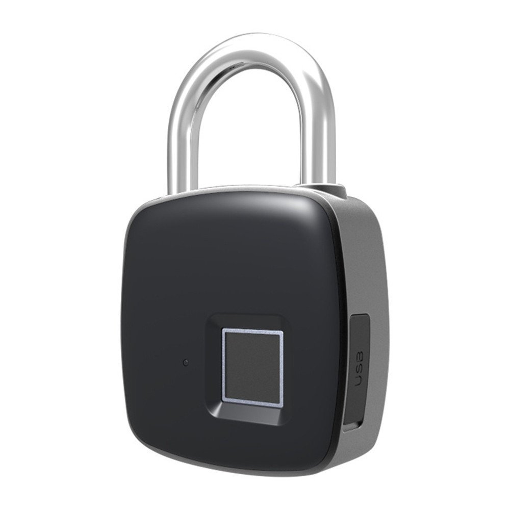 P3 Nouvelle puce Bluetooth empreintes digitales anti-vol de sécurité rechargeable bagages maison électronique serrure de porte cadenas serrure de porte