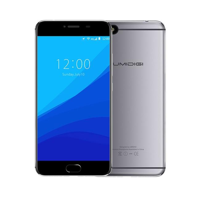 "Umidigi C Note Android 7.0 Unlocked Cell Phones 3G RAM 32G 3800mAh Quad Core 4G LTE 5.5"" 1920x1080P 13MP Mobile Phone"