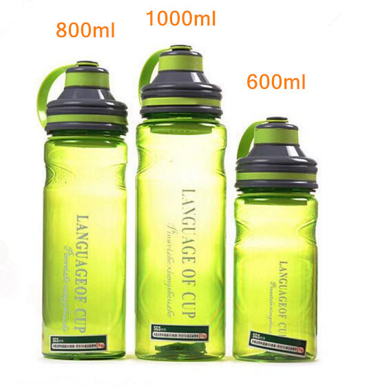 Creative 3 color my portable space water bottles with tea infuser high quality tumbler style sports bottle 600ml/800ml/1000ml