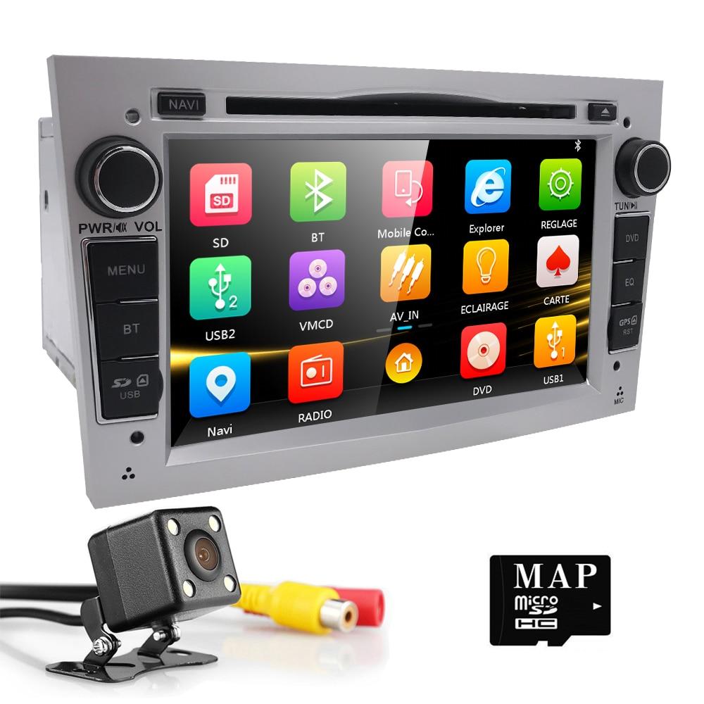 2 din Car DVD Stereo for Vauxhall Opel Astra H G Vectra Antara Zafira Corsa DVD GPS Navi Radio 2 color steering wheel RDS TV CAM автомобильный dvd плеер joyous kd 7 800 480 2 din 4 4 gps navi toyota rav4 4 4 dvd dual core rds wifi 3g