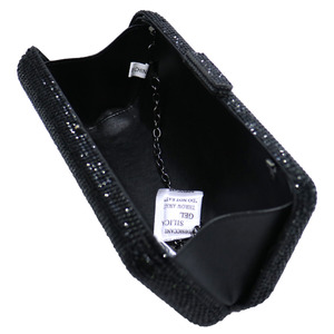 Image 5 - Luxury Crystal Rhinestone Evening Clutch Bags for Bridal Prom Evening Party Crystal Box Clutch Black Evening Bag