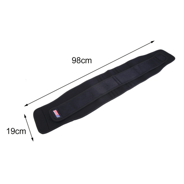 1pc  ShuoXin Woman Man SX532 Double Press 6 Spring Elastic Waist Guard Protecting Band Black Gym Fitness Strap Padding