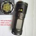 70 Вт 10000 люмен 7 xCREE XM-L R8 из светодиодов 18650 тактический охота фонарик свет велосипеда факел с жк-дисплеем и прямого заряда функция