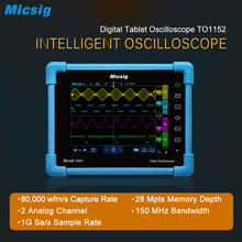 Micsig 2017 Digital Tablet Oscilloscope TO1152 150MHz 2CH 1G Sa/s real time sampling rate automotive Oscilloscopes kit new come