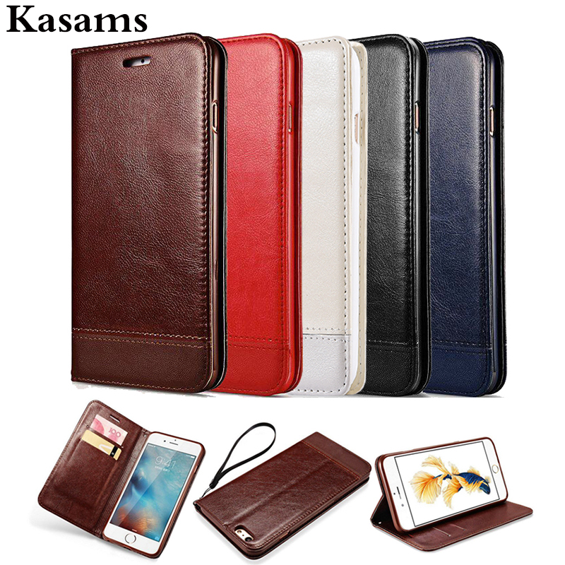 Strong Double Magnet Case For Apple IPhone 5 5S SE Flip Wallet Splicing Litchi Leather Phone Cover IPhone5 IPhone5S IPhoneSE Bag