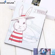 XIN-MUM Cartoon Tree Fox Moon Star Love Monkey Rabbit Tablet Case For iPad Mini 4 Flip Cover Smart Wake Sleep Leather Shell Skin