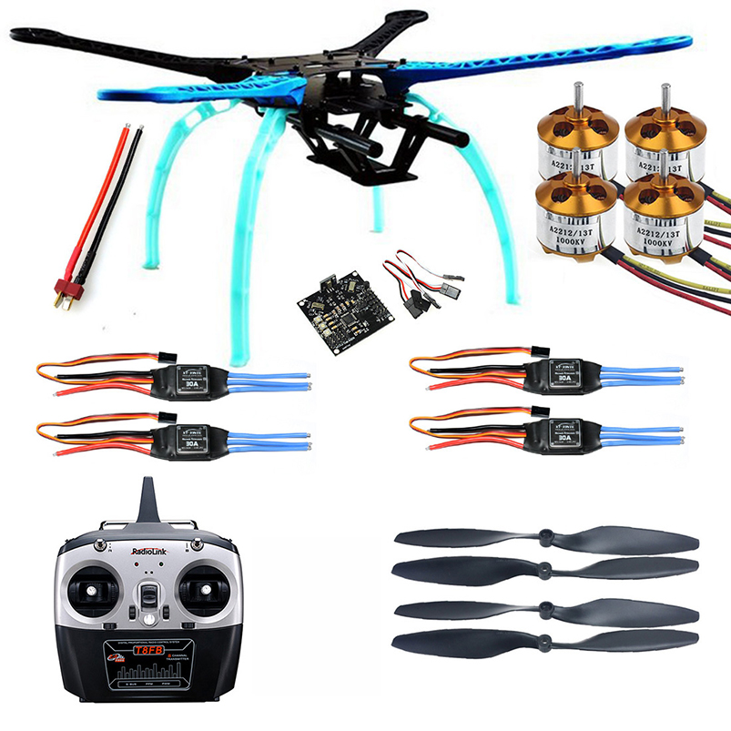 цены 500mm Multi-Rotor Air Frame Kit S500 w/ ESC Motor+KK XCOPTER V2.9 Board 8CH RX&TX Propellers for DIY RC Quadcopter Drone