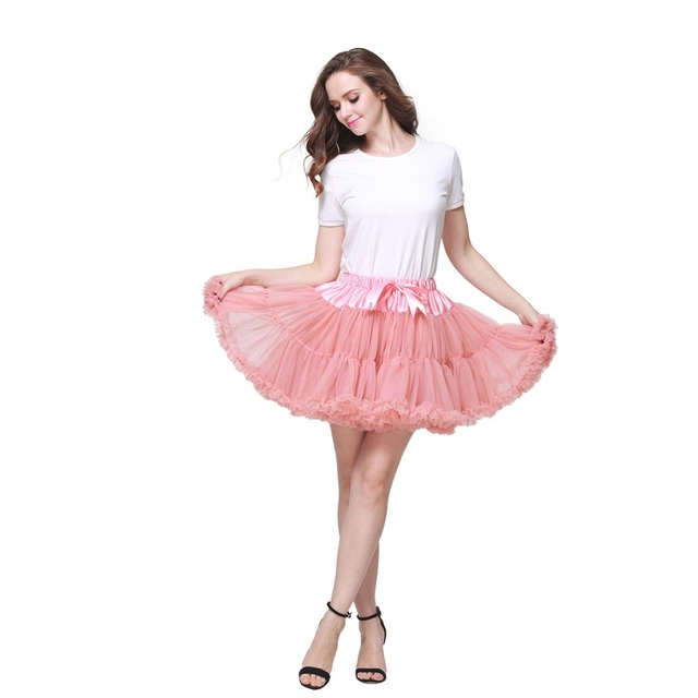 51057a775 2pc Extra Fluffy Mini Skirt Girl Adult Women Pettiskirt Tutu 2 Layer with  Lining Holiday Party Dance Cloth Petticoat Tulle Skirt