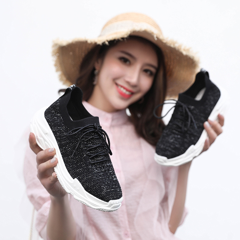 Hot Breathable Mesh Platform Sneakers Grils Wedges Shoes Women Vulcanize Shoes Tenis Feminino Breathable Casual Female Shoes