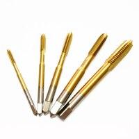 5pc HSS Titanium Coating M3 M4 M5 M6 M8 Straight Fluted Screw Thread Metric Screw Tap