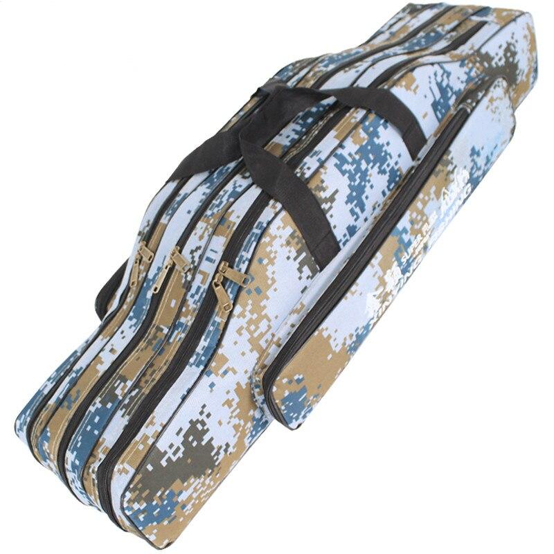 Prix pour De pêche Sacs Portable Canne À Pêche Pliante Porte-sac en Toile De Pêche Pôle Outils Sac De Rangement Engins De Pêche S'attaquer