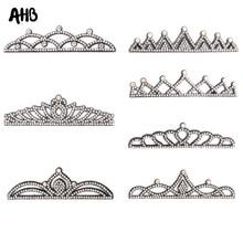 AHB 5Pcs/Bag Pretty Rhinestone Felt Crown Handmade Princess For Girls Headband Craft DIY Hair Accessories Decor Materials