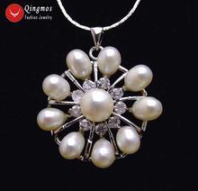 Женское ожерелье с подвеской из натурального жемчуга 32 мм
