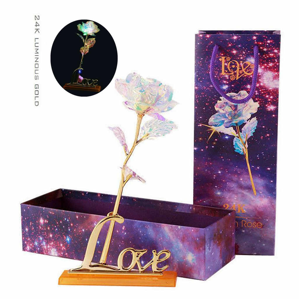 Galaxy Rose With Love Base Everlasting Crystal Mother's day Gift The Best Choice Home Decoration Rose Dropshipping D9