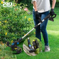 PROSTORMER Lawn Mower Electric Cordless Grass Trimmer 20V Lithium Battery Grass String Trimmer Pruning Cutter Garden Tools