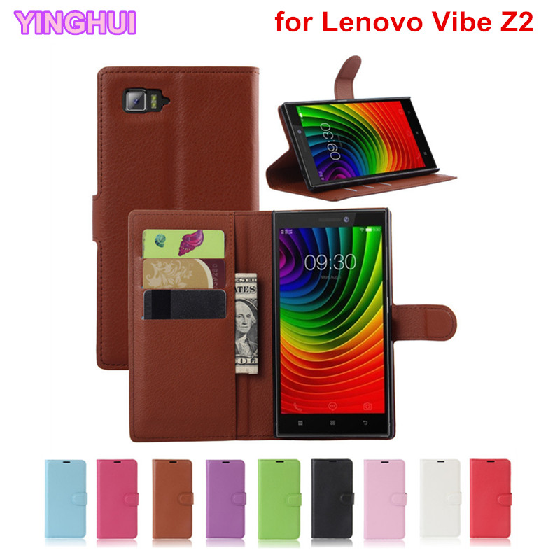 Lenovo Vibe Z2 Case Cover Wallet PU Leather Case for Lenovo Vibe Z2 Flip Cover Fundas Coque Capa Phone Bag with Stand Card Slot