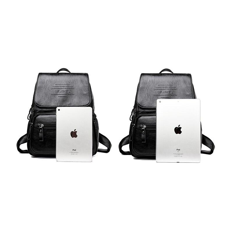 HTB1eMVSfQ7mBKNjSZFyq6zydFXa1 2019 Vintage Leather Backpacks Female Travel Shoulder Bag Mochilas Women Backpack Large Capacity Rucksacks For Girls Dayback New