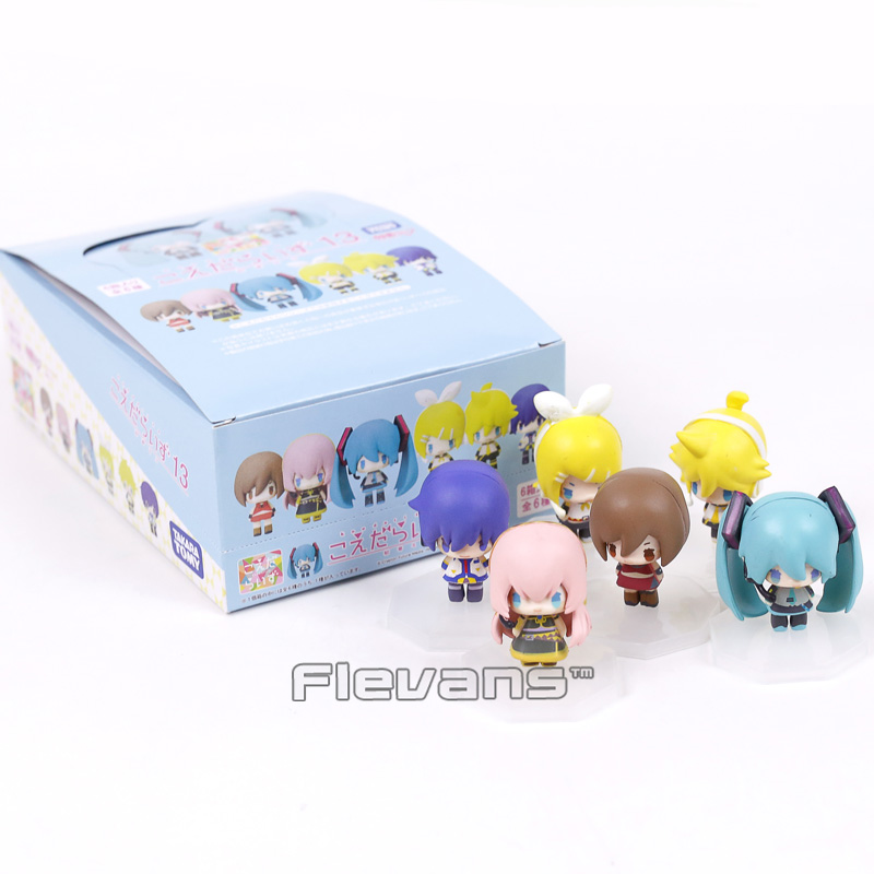 VOCALOID Hatsune Miku Kaito Kagamine Rin Ren Luka Meiko Mini PVC Figures Toys 6cm 6pcs/set with Retail Box 2016 new arrivals hot men s cube cycling thermal fleece jersey bib pants sets pro team mtb bicycle clothing bicicleta bike k0709