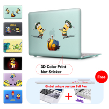 whimsy Minions Matte Hard Case For macbook air pro 13 11 12 15 Retina Laptop Bag Protector For apple Macbook 13 15 cover cases