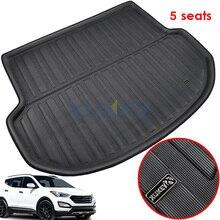 Alfombrilla protectora para maletero trasero, forro para maletero, Protector de alfombra, para Hyundai Santa Fe, 5 asientos, IX45, 2013 2019, 2013, 2018