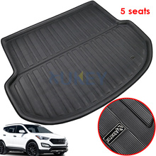Fit For Hyundai Santa Fe 5 Seater IX45 2013 2018 Floor Mat Rear Trunk Cargo Tray Boot Liner Carpet Protector 2014 2015 2016
