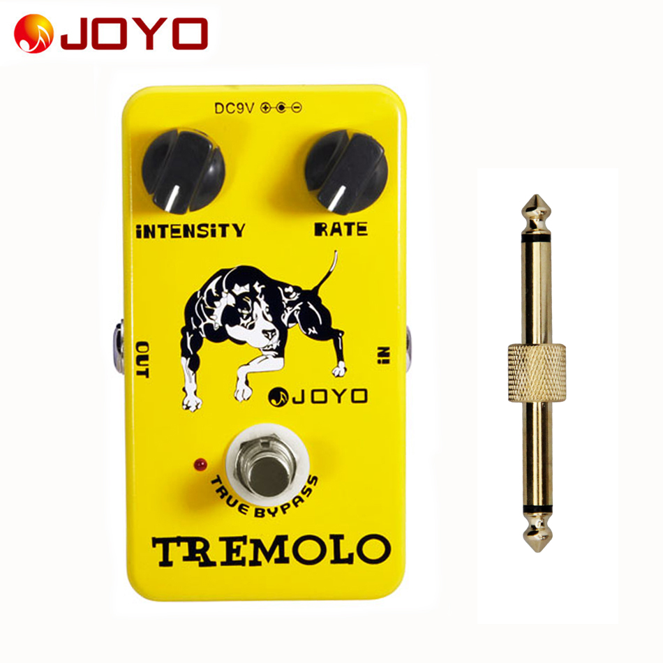 JOYO JF-09/Guitar Effect Pedal Tremolo, electric bass dynamic compression effects + 1 pc pedal connector universal air flow vent hood covers for car silver pair