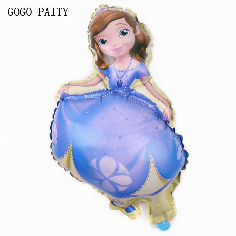 GOGO PAITY Hot Sue Sofia Princess cartoon aluminum balloon ball baby birthday anniversary theme package party decoration layout