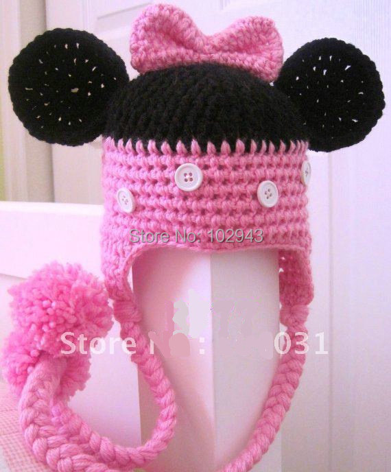 ab0ea361a1de1e Children Fashion Crochet Baby girl earflaps Hat for christmas gift newborn  baby photo props photoshoot baby hat and caps-in Hats & Caps from Mother &  Kids ...