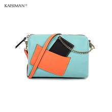 Real Cow Leather Women Genuine Leather Handbag Shoulder Bag High Quality Designer Luxury Brand Boston Patchwork Crossbody Bag