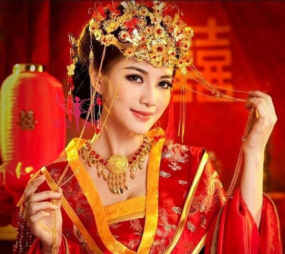 ТЕЛЕВИЗОР Играть Ян Цзи Сюэ Же Дизайн Ручной классический волосы корона китайский стиль Hanfu аксессуары невесты свадебные аксессуары для во…