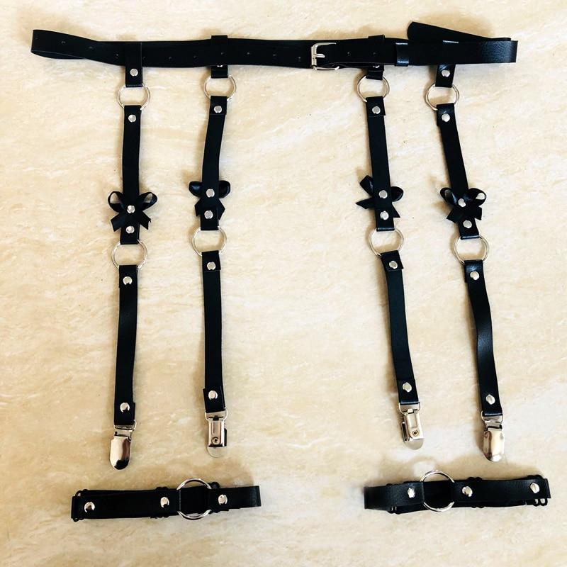 Sexy Women Leather Waist Garter Belt 2