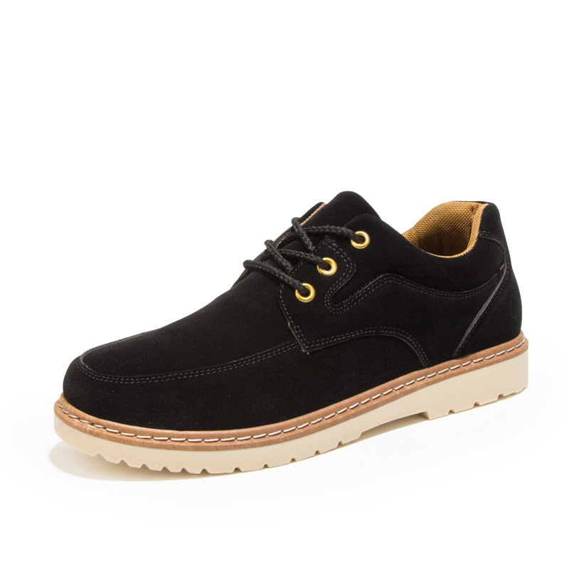 Men Casual Shoes New Men Flats Lace Up Male   Suede   Oxfords Men   Leather   Shoes Work Shoes