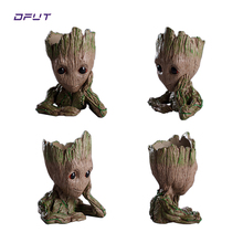 Action Figure Baby Grootted Doll Tree Man Grootted Guardians of the Galaxy Avengers Flowerpot Action Figures Home Decoration Toy цена 2017