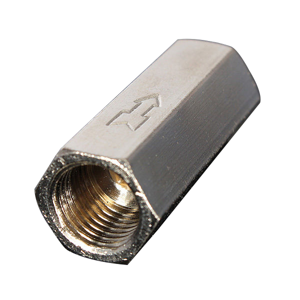 SZ Hot Brass 1/4'' Threaded BSPP Female Full Port One Way Air Check Gas Oil Water Valve