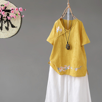 2019 women tops hanfu top performance stage costume fairy ancient classical hanfu blouse chinese traditional costume chiffon
