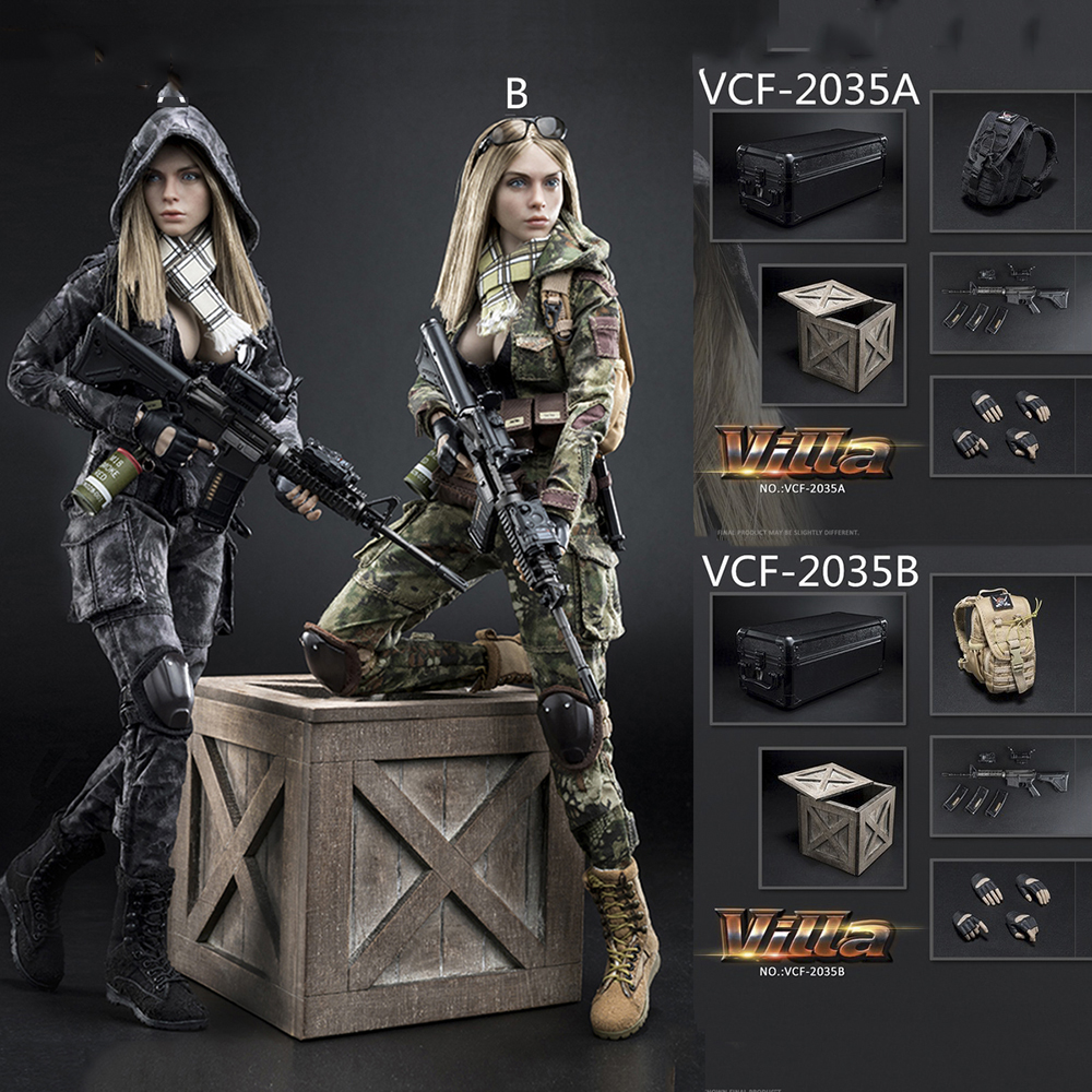 Full set with head and body 1/6 VERYCOOL VCF-2035 Villa Sister Flower Female Solider Figure Collection Doll Toys GiftFull set with head and body 1/6 VERYCOOL VCF-2035 Villa Sister Flower Female Solider Figure Collection Doll Toys Gift