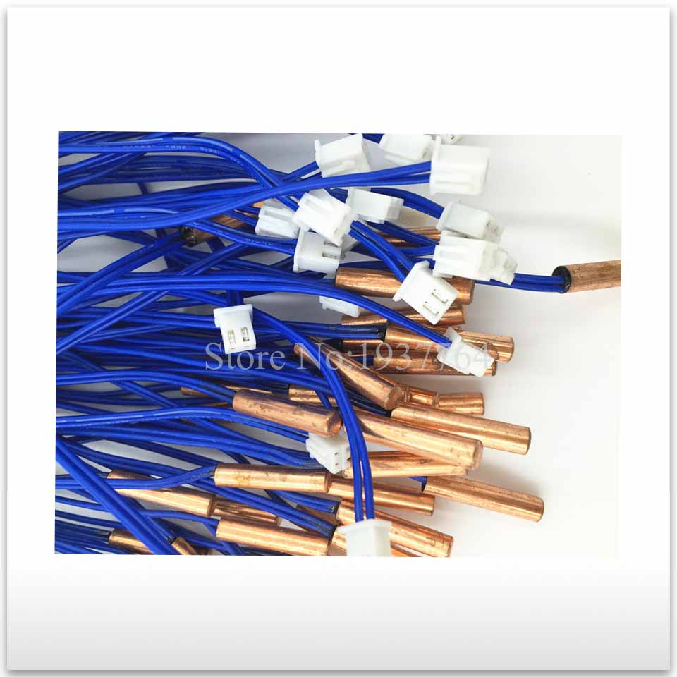 Air Conditioner Tube Sensor temperature sensor thermal head 5k metal Copper head 10x1mm soft coil copper tube pipe air conditioner refrigeration systems