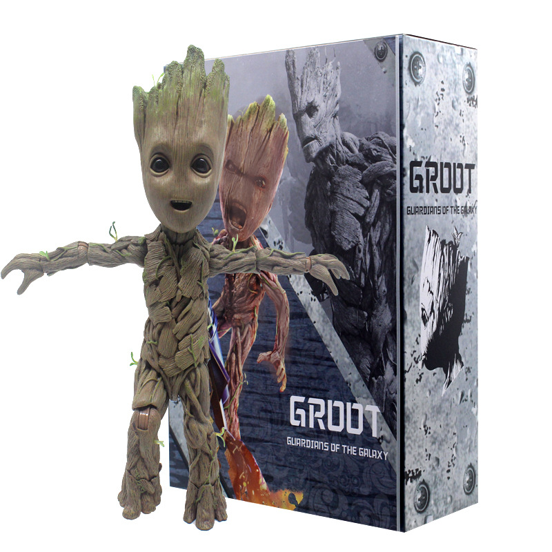 LMS005 Groot Small Tree Man Model HT1:1 DOLL Action Collectible Statue Toy Figure