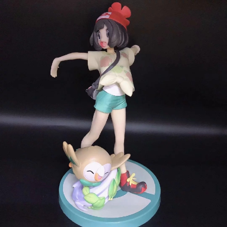 Anime Characters Sun and Moon Selene With Rowlet Eevee Action Figure Gary Oak Model Toys Room Decoration Figure in Action Toy Figures from Toys Hobbies
