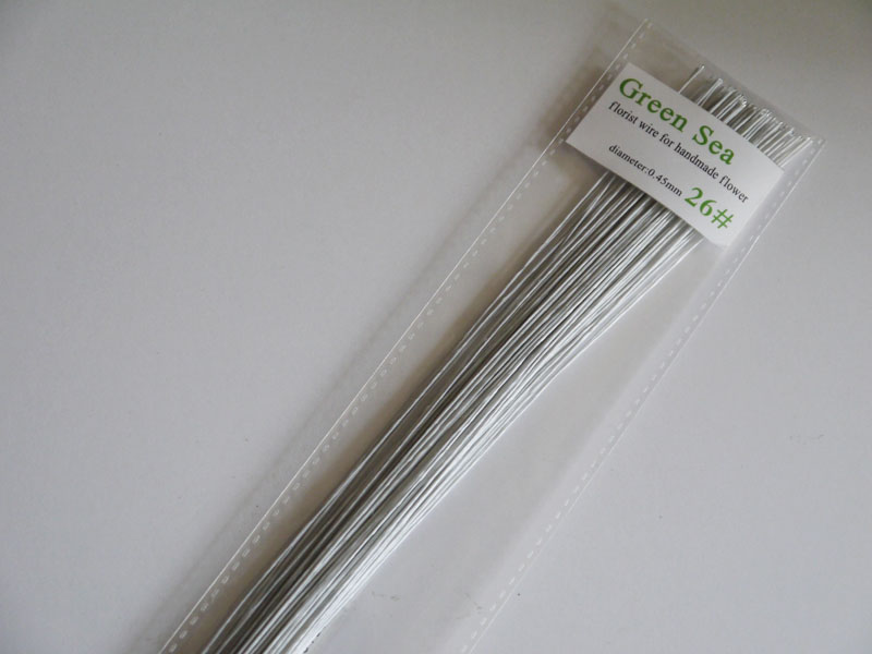 26# white florist wire 60pieces 23 long Cake decoration wire