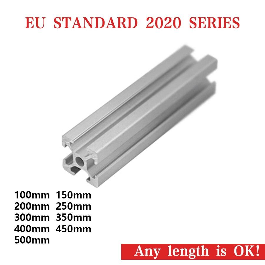 De Goedkoopste Prijs 2020 Aluminium Profiel 2020 Extrusie Europese Standaard Geanodiseerd Lineaire Rail Cnc 3d Printer Onderdelen 2020