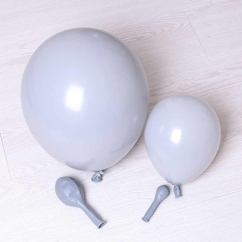 10pcs/lot 5inch 12inch Gray Color Thick Latex Balloons Birthday Party Balloons DIY Wedding Decoration Balloon Arch Decor Balls