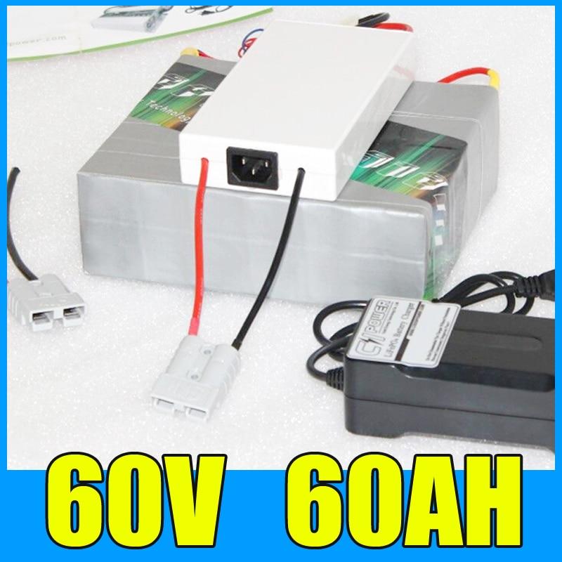 60V 60AH Lityum Batareya Paketi, 67.2V 3000W Elektrikli Velosiped - Velosiped sürün - Fotoqrafiya 1