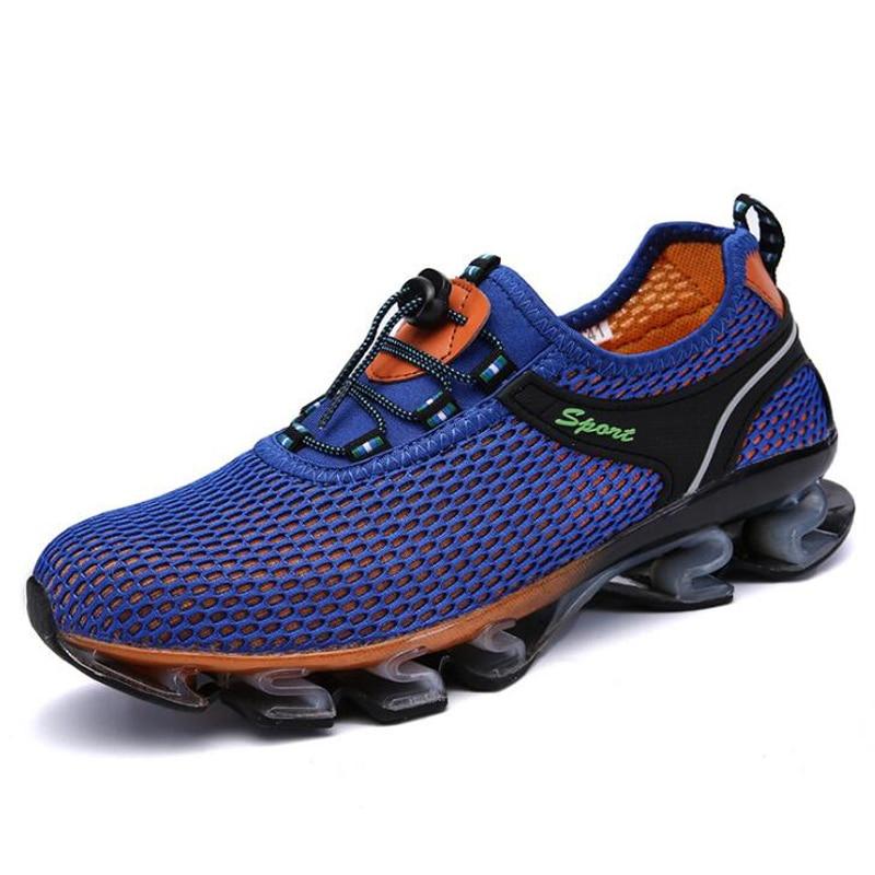 Lacets Blue De gray Dark Chaussures Respirant Été Printemps Royal Hommes 2018 Blue Mesh Casual Sneakers À bleu Qualité Haute A476wFqx7