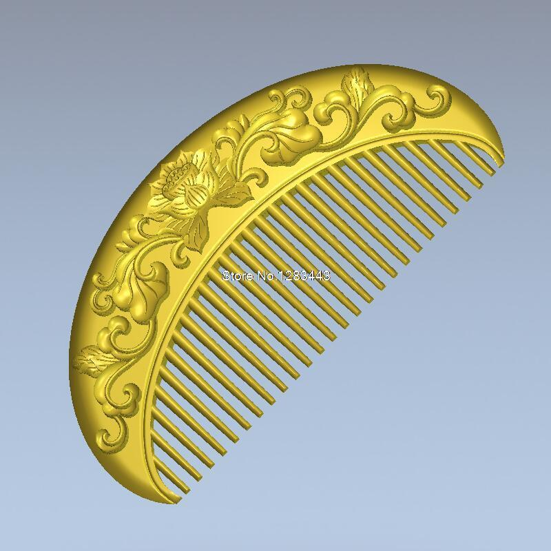 Comb with flowers 3d model relief  for cnc  in STL file format martyrs faith hope and love and their mother sophia 3d model relief figure stl format religion for cnc in stl file format