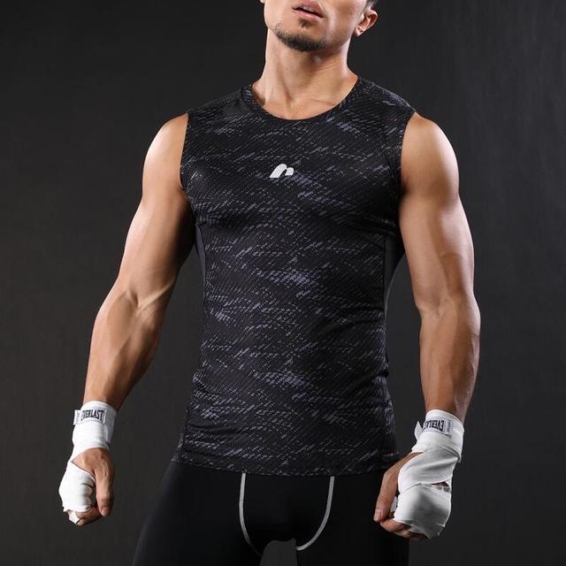 2017 Summer Vests Men Compression Vest Tight Base Layer NASHA Fitness Excercise Mens vest Sleeveless Shirts M-XXL